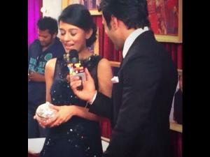 Zee Cine Awards 2014 Amrita Rao Red Carpet