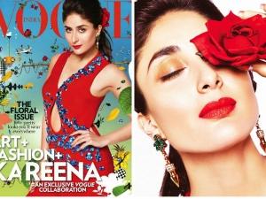Kareena Kapoor On Vogue Cover In Prada