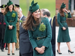 Kate Middleton Not Pregnant Goes Green St Patrick S Day