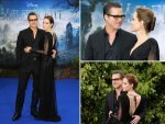 Angelina Jolie Brad Pitt Stun In Black At Maleficent