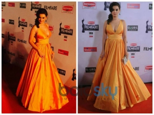 Filmfare 2015: Sunny Gowns On The Carpet