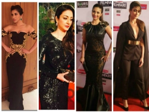 10 Bold Beauties In Black At Filmfare!