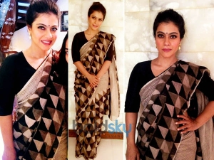 Kajol Wows In Anavila Saree