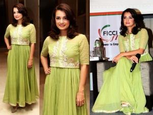 Dia's Evergreen Look In Ridhi Mehra