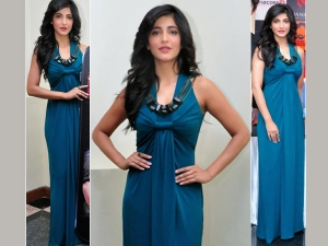 Yay Or Nay: Shruti In Teal Blue Dress