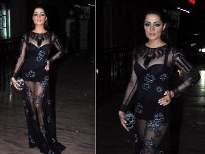 Celina Jaitly: Sheer Joshipura Dress