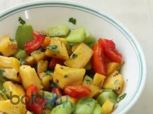 Weight Loss Recipe Pineapple Cucumber Salad