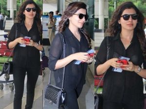 Samantha Goes Sheer With Chanel Bag!