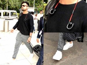 Virat Kohli At The Airport