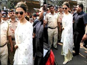 Deepika Padukone In Chic White Suit