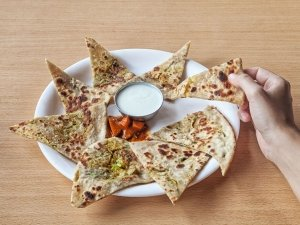 Egg And Cheese Paratha Recipe