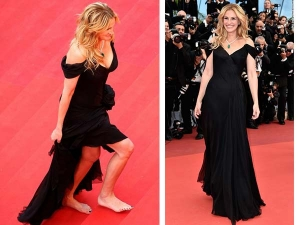 Julia Roberts Walks Bare Feet At Cannes 2016 Red Carpet
