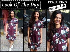 Look Of The Day Radhika Apte In Cute Short Dress Check It Out