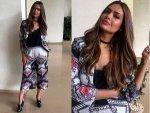 Esha Gupta For Rustom Movie Promotions Wearing Kalista Jacket