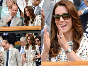Kate Middleton Watching Wimbledon In Chic Printed Dress