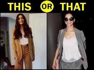 Deepika Padukone Sonam Kapoor Pantsuits Which One Is Better