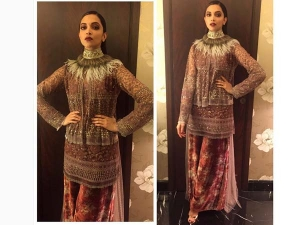 Deepika Padukone In Sabyasachi At Giant Awards In Mumbai