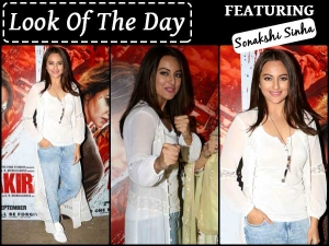 Look Of The Day Sonakshi Sinha At Special Screening Of Akira Casuals