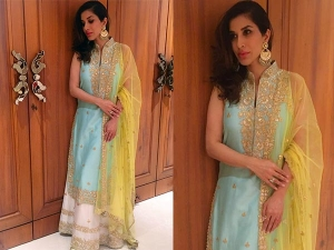 Sophie Choudry Wearing Tamanna Punjabi Outfit For Eid Celebration