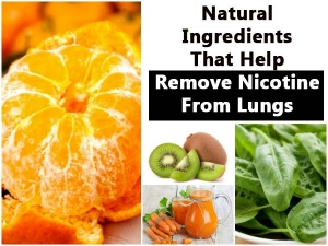 Natural Ingredients That Help Remove Nicotine From Lungs Quickly