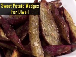 Sweet Potato Wedges For Diwali Video