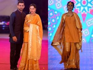 Sania Mirza Wearing A Sukriti And Aakriti Outfit