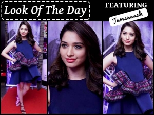 Look Of The Day Tamannaah Bhatia In Amit Aggarwal