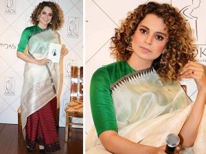 Kangana Ranaut In Traditional Manipuri Dress For Book Launch