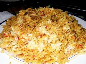 Main Course Turkey Biryani For Christmas