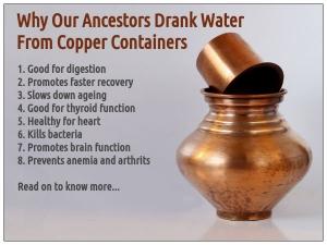 Drinking Water In Copper Vessel In Morning