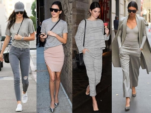 Kendall Jenner In Grey Lookbooks Check Out