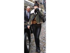 Kendall Jenner Wearing Olive Green Jacket While Out In New York