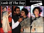 Look Of The Day Kiran Rao Wearing Sabyasachi Saree