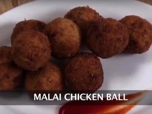 Malai Chicken Ball Recipe