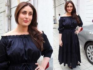 Kareena Kapoor Wearing Off The Shoulder Blue Dress
