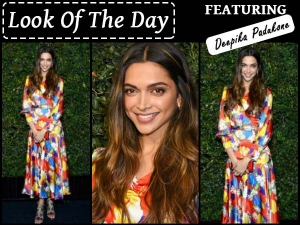 Deepika Padukone Wearing Duroolowu At Pre Oscar Party