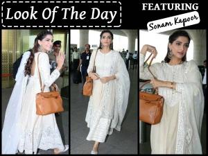 Look Of The Day Sonam Kapoor Wearing White Kurta