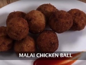 Malai Chicken Ball Recipe