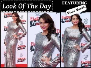 Look Of The Day Huma Qureshi Wearing Silver Sequin Dress