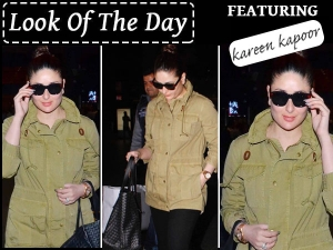 Look Of The Day Kareena Kapoor Airport Look