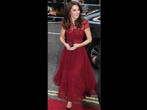 Kate Middleton Wearing Red For Royal Gala Performance Of 42 Street