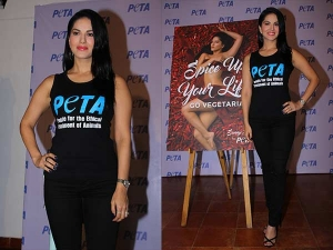 Sunny Leone At Peta Campaign