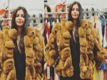 Rhea Kapoor A Teddy Ensemble While Shopping New York