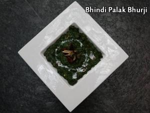 Bhindi Palak Bhurji