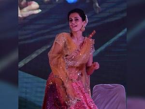 Varun Dhawan Taapsee Pannu Celebrating Navratri Garba Attires