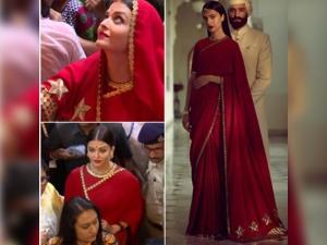 Aishwarya Turned Gorgeous Sabyasachi S Red Ensemble