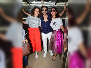 Judwaa 2 Lead Cast Dressed Like Rapchik Bombs At Red Fm Studio