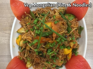 Veg Mongolian Rice And Noodles