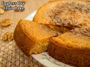 Eggless Dry Fruit Cake