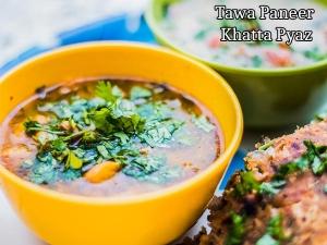 Tawa Paneer Khatta Pyaaz Recipe